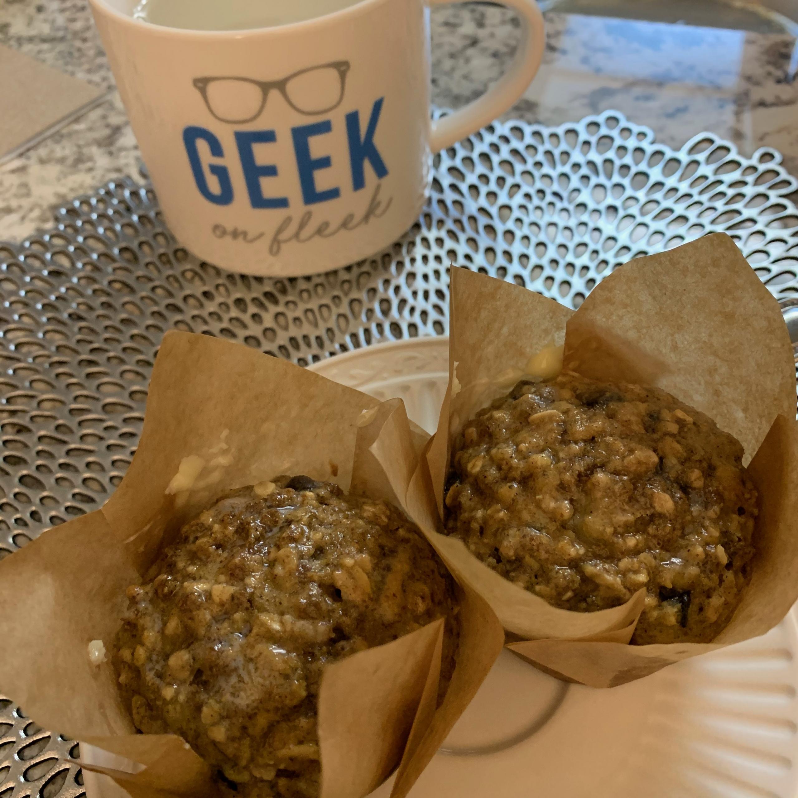 Dark Chocolate Bran Muffins Recipe