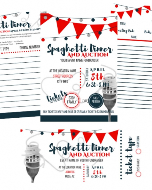 Fundraiser flyers and signup templates